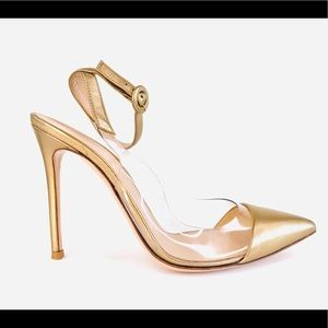 Gianvito Rossi Metallic Pvc Anise Strap Sandals